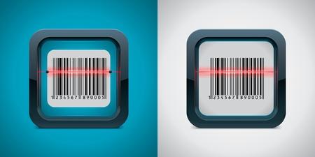 Vector barcode scanner icoon
