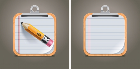 binder clip: Vector clipboard square icon