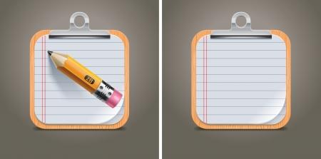 objetos cuadrados: Vector icono cuadrado de portapapeles