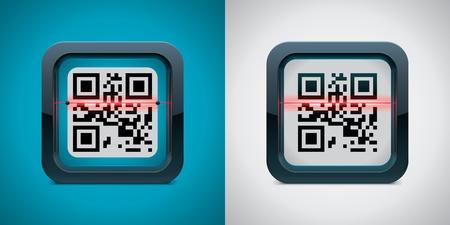Vector QR code scanner icoon
