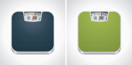 gewicht skala: Vector Badezimmer-Waage-Symbol