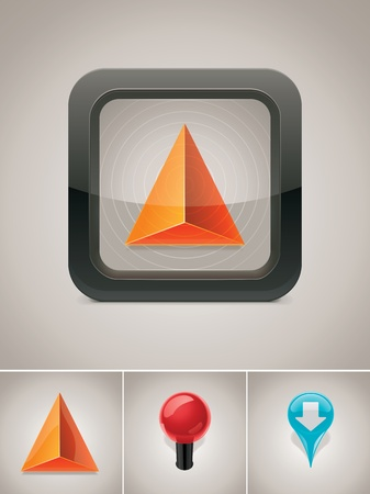 gps navigator: Vector GPS navigation icon Illustration