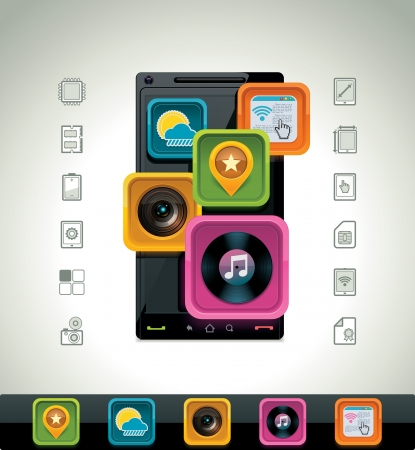 Vector smartphone icon Vector