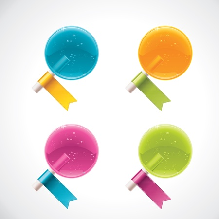 lollipops with ribbons Vector