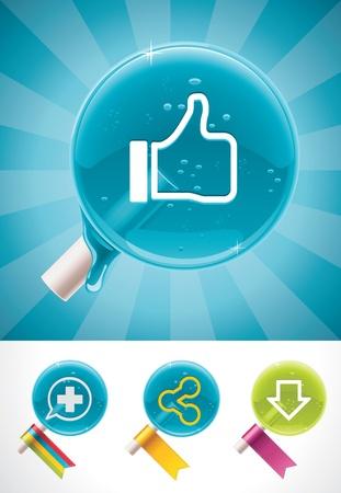 social media lollipops Stock Vector - 11073690