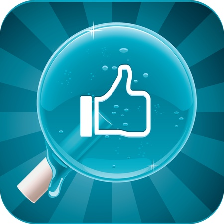 social media lollipop Vector