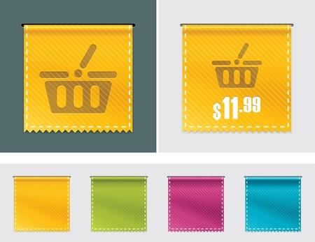 Price tag ribbon Vector