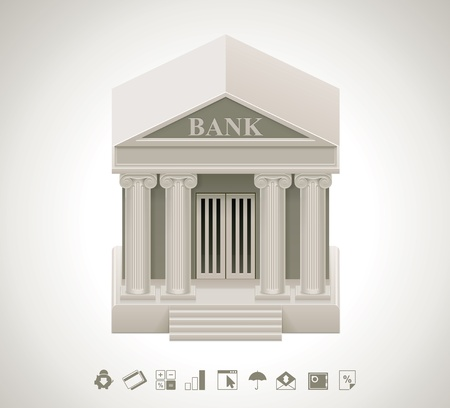 corporate building: Bank icon