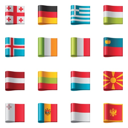 monaco: Flags. Europe Illustration