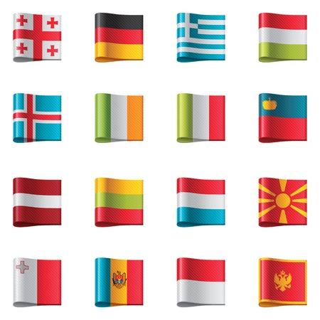 Vlaggen. Europa