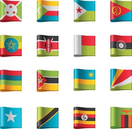 comoros: Vector flags. Africa, part 9