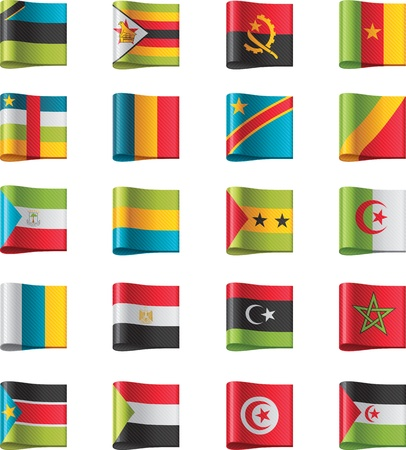 made in morocco: Vector flags. Africa, part 10