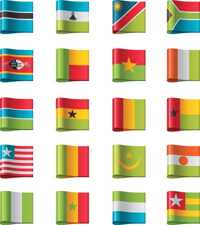 pennon: Vector flags. Africa, part 11