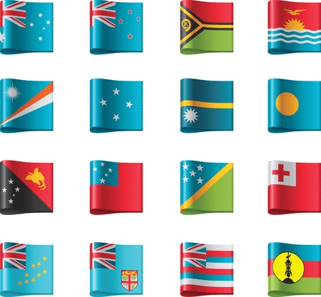 Vector flags. Oceania, part 12 Vector