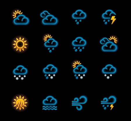 Vector weather forecast icons. Part 1 Stock Vector - 11377855