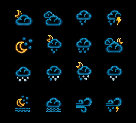 Vector weather forecast icons. Part 2 Stock Vector - 11377857