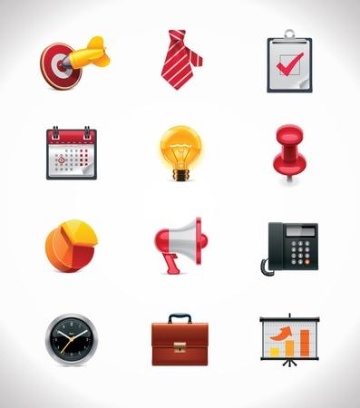 neckties: Vector de negocios conjunto de iconos