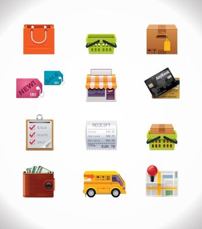 negozio: Vector Shopping set di icone