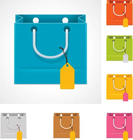 white paper bag: Vector shopping bag