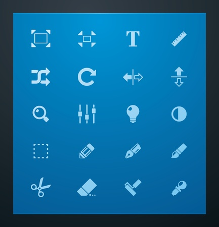 Universal glyphs 3. Photo set Vector