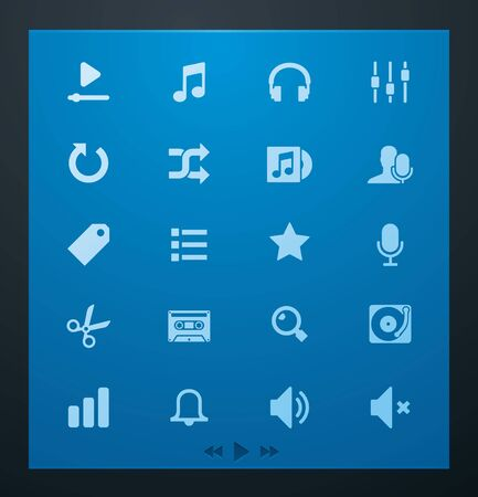 Universal glyphs 4. Audio and music set Ilustra��o
