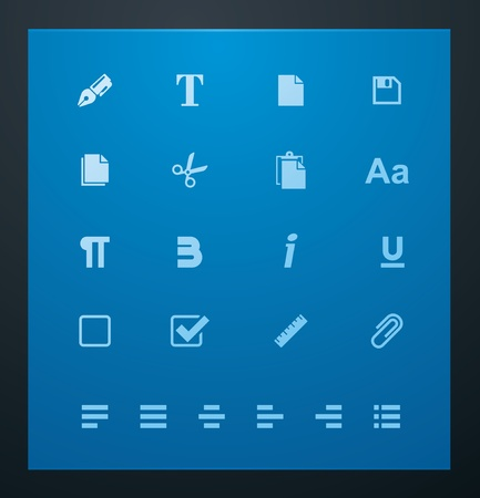 article icon: Universal glyphs 6. Text editing
