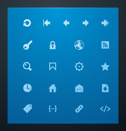 linking: Universal glyphs 7. Web icons
