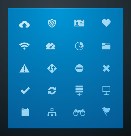 Universal glyphs 8. Web icons Vector