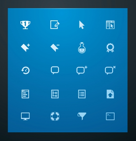 bookmarks: Universal glyphs 9. Web icons