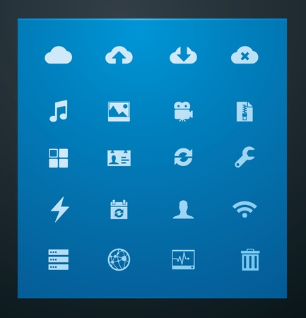 backup: Universal glyphs 10. Cloud services