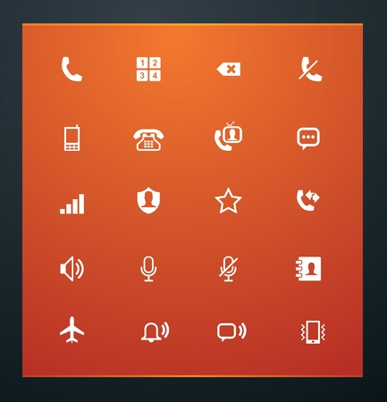 contacting: Universal glyphs 12. Phone symbols 1
