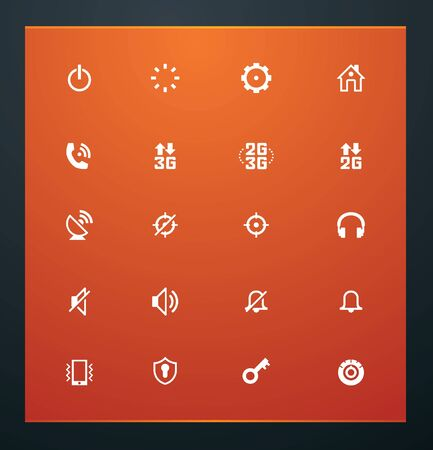 Universal glyphs 13. Phone symbols 2 Vector