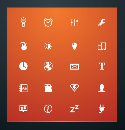 Universal glyphs 14. Phone symbols 3 Vector