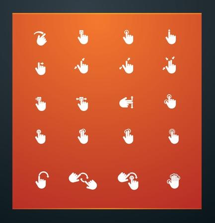 Universal glyphs 17. Phone symbols 6 Vector