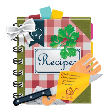 recipe book: Vector cooking book XXL icon