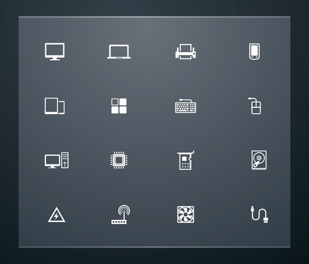 Universal glyphs 25. Computers Vector
