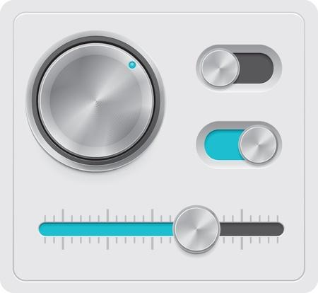 settings: Vector metalen wijzerplaten te stellen