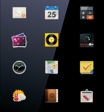 reminder icon: Vector mobile devices icons. Part 1