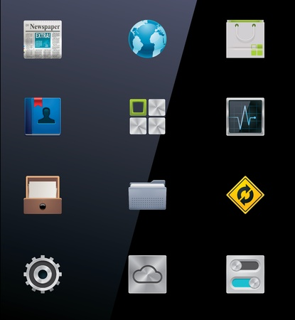 Vector mobile devices icons. Part 2