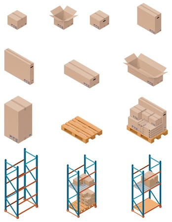 boxes and shelving