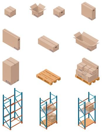 palet: cajas y estanter�as