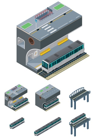 transit:  metropolitan icons Illustration