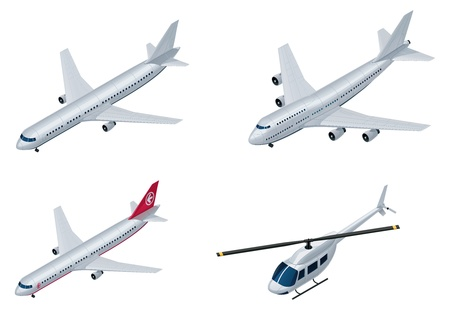 commercial airplane: Vector isometric airplanes Illustration