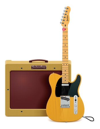 gitara: gitara i wzmacniacz ikona Ilustracja