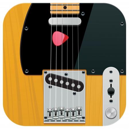 square guitar icon Vector