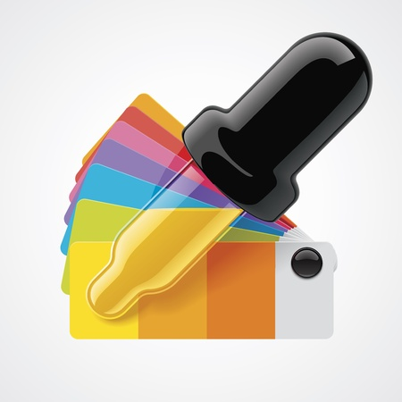 color picker icon Stock Vector - 14018859