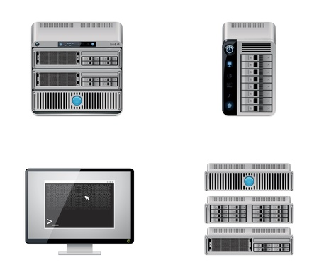 server rack:  server icon set