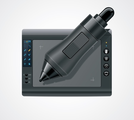 graphic tablet: graphic tablet icon Illustration