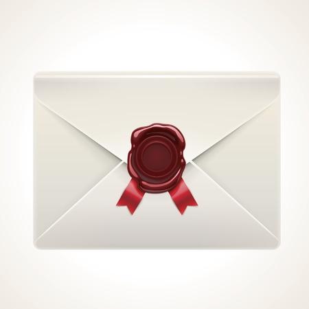 signet: retro envelope icon