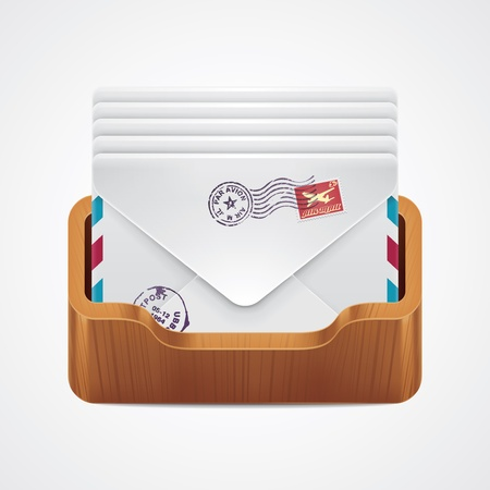 air mail: mailbox icon  Illustration